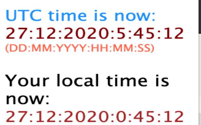 uTiCh - UTC / Local Time