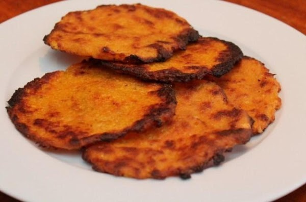 Chop the plantains into 2 inch pieces and toss them in the food processor...