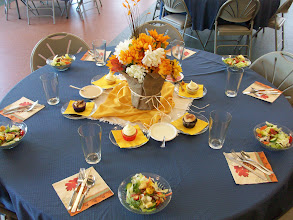 Photo: Fall Banquet Table Setting