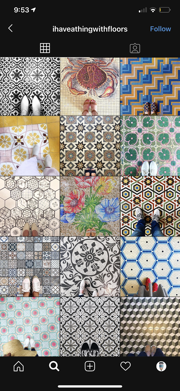 patterned instagram theme