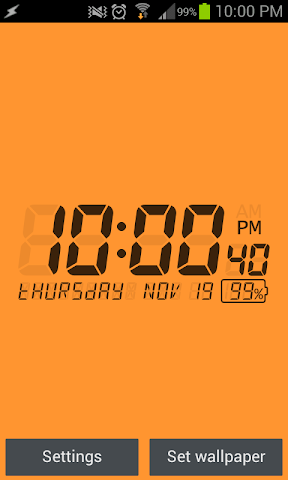 android LCD Clock Live Wallpaper Screenshot 4
