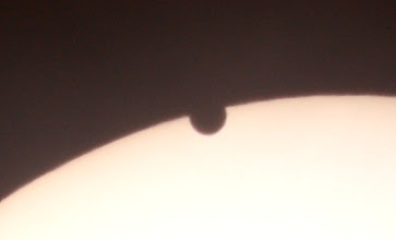 Photo: Do I see Venus's atmosphere?  The rim of Venus seems to be slightly illuminated to me.. Do others see the same?