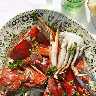 Grilled Crabs with Champagne and Chervil Sauce