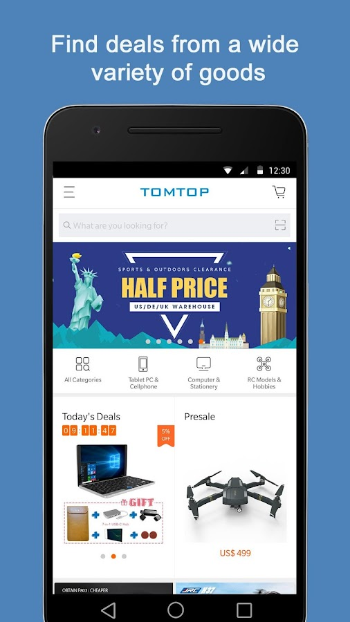 TOMTOP - Easy Shopping & Big Saving- screenshot