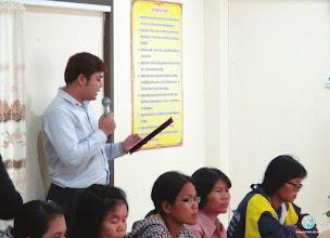 Photo: Welcome speech by Mr. Sompoch Yasoongnern , Local Management Unit Coordinator, Surin province