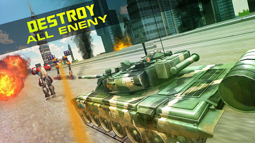 Télécharger Gratuit Guerre: Robots Vs Tanks APK MOD (Astuce) screenshots 3