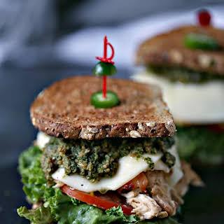 Grilled Chicken Sandwich with Basil Pesto.