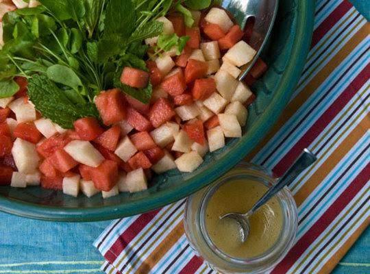 Jicama And Watermelon Salad With Mint