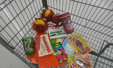 Photo: Look at all the fun stuff I picked up. I found those huge erasers in Walmart's new Dollar Station. They are going to think the hot dog and ice cream are hilarious. My boy gets some fizzy tub colors for bathtime.