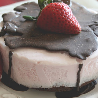 Strawberry Ice Cream Cake.