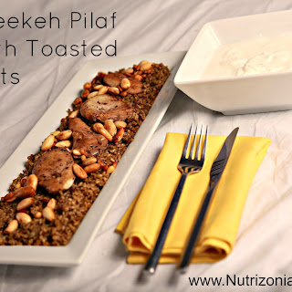 Freekeh Pilaf with Toasted Nuts