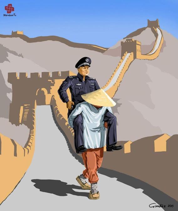 Noticias criminología. Ilustraciones que muestran la policía de diversos países. China. Marisol Collazos Soto. Criminologia, ciencia, escepticismo