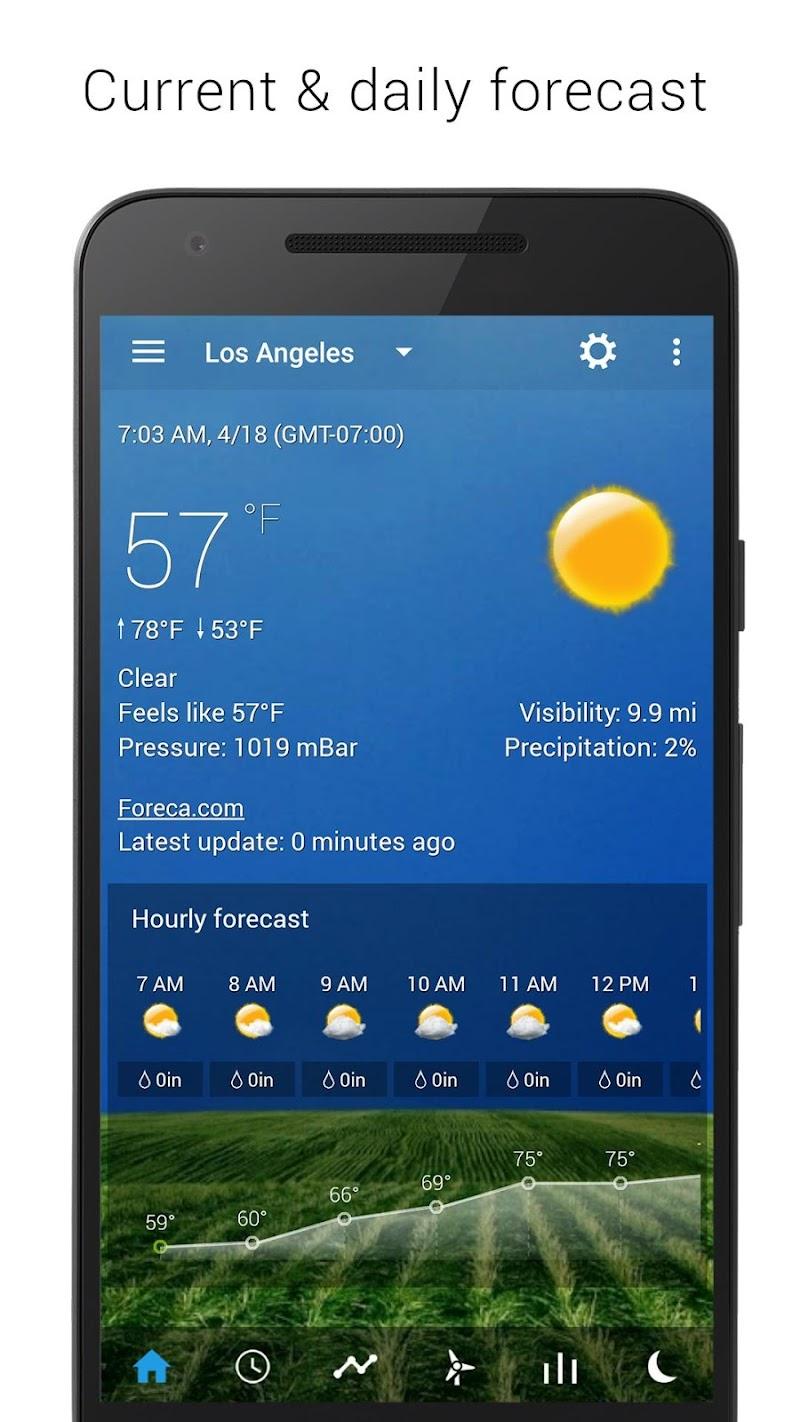 Digital clock & world weather Screenshot 1