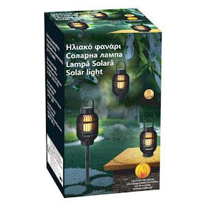 Set 3 x lampa solara LED cu efect de flacara 36 LED, 13 x 72.5 cm