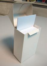 Photo: Caixa (13) pequena tipo carteira com tampa móvel e lacre - Toda em papel.