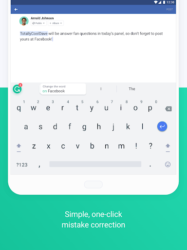 Screenshot for Grammarly Keyboard — Type with confidence in United States Play Store