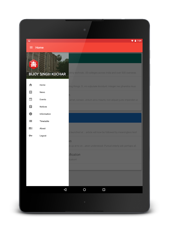 IITBApp- screenshot