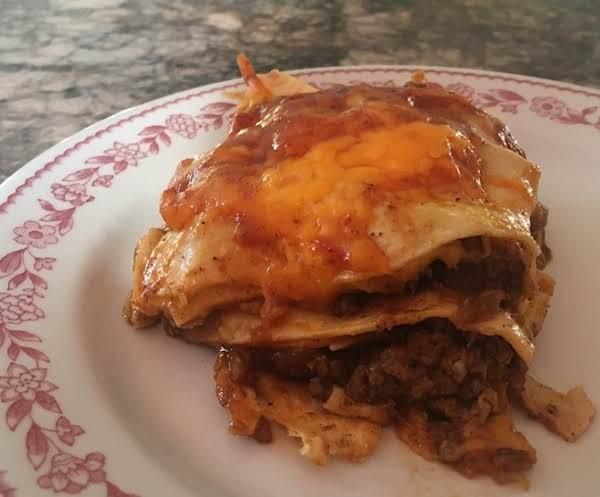 Beef Enchilada Casserole Low Carb Version Recipe