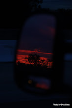 Photo: (Year 3) Day 30 -  Sunset Via the Van Mirror #4