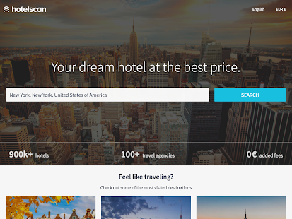 hotelscan - Hotel Search Screenshot