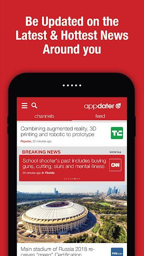 appdater - Breaking and Trending News 3.3.3 screenshots 3