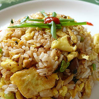 Simple Spicy Egg Fried Rice.