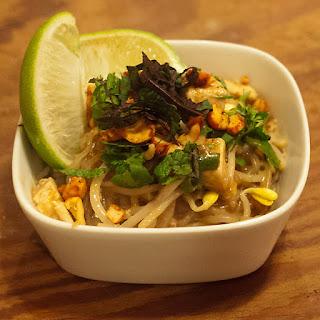 Shirataki Pad Thai with Tofu.
