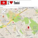 Tunis map icon