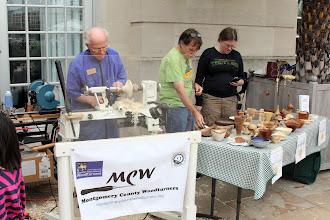 Photo: Three of the four MCW volunteers.