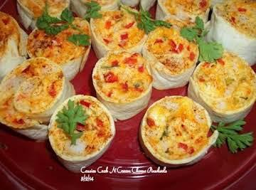 Tasty Crab N Cream Cheese Pinwheels