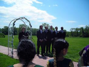 Photo: Officiant, Ben, groomsmen