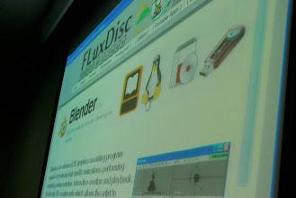 Photo: JM introducing FluxDisc