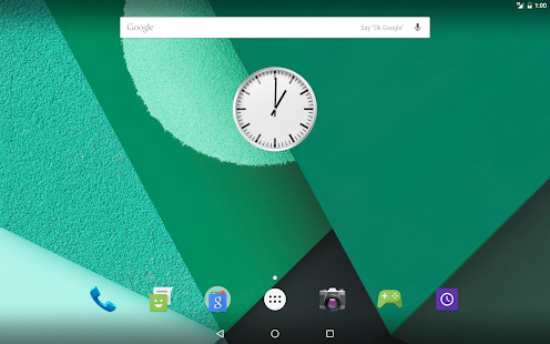 Android N Clock- screenshot thumbnail