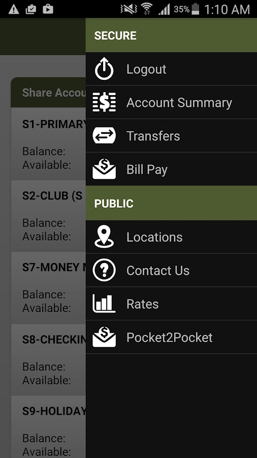 Argent Credit Union Mobile- screenshot
