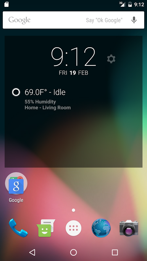 Thermostat DashClock Extension- screenshot