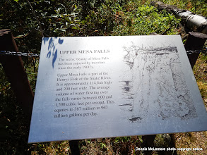 Photo: Upper Mesa Falls sign
