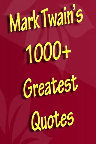 Mark Twain's Greatest Quotes