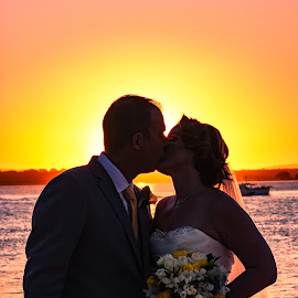 Glowing Couple by Sarah Sullivan - Wedding Bride & Groom