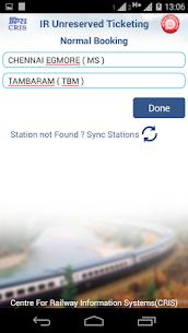 UTS on mobile app – Indian Railways 5