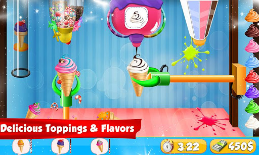 Ice Cream Cone Cupcake Factory: Candy Maker Games 1.0 screenshots 1