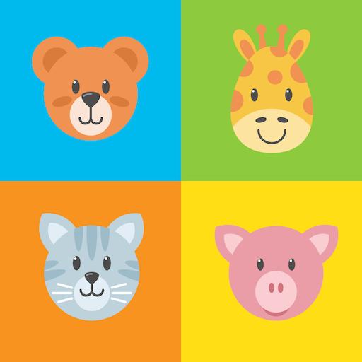 Happy Animals Memory Game