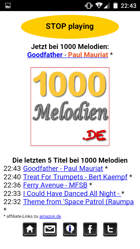 1000 Melodien Player – Screenshot