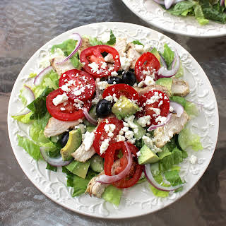Greek Salad with Greek Yogurt Dressing.