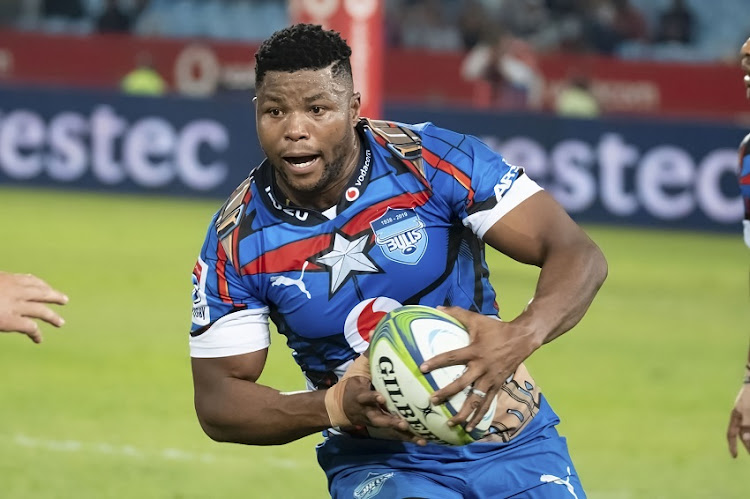 Lizo Gqoboka of the Bulls during the Super Rugby match between Vodacom Bulls and Emirates Lions at Loftus Versfeld on June 15, 2019 in Pretoria, South Africa.