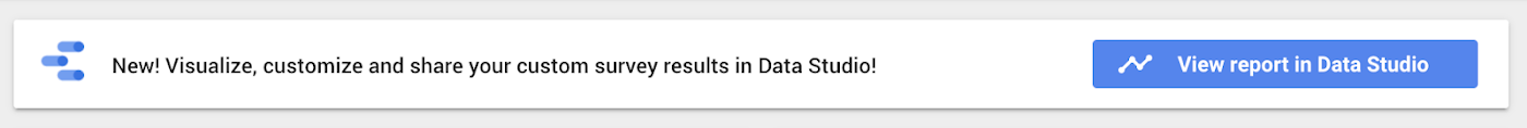 visualize survey results in Data Studio button