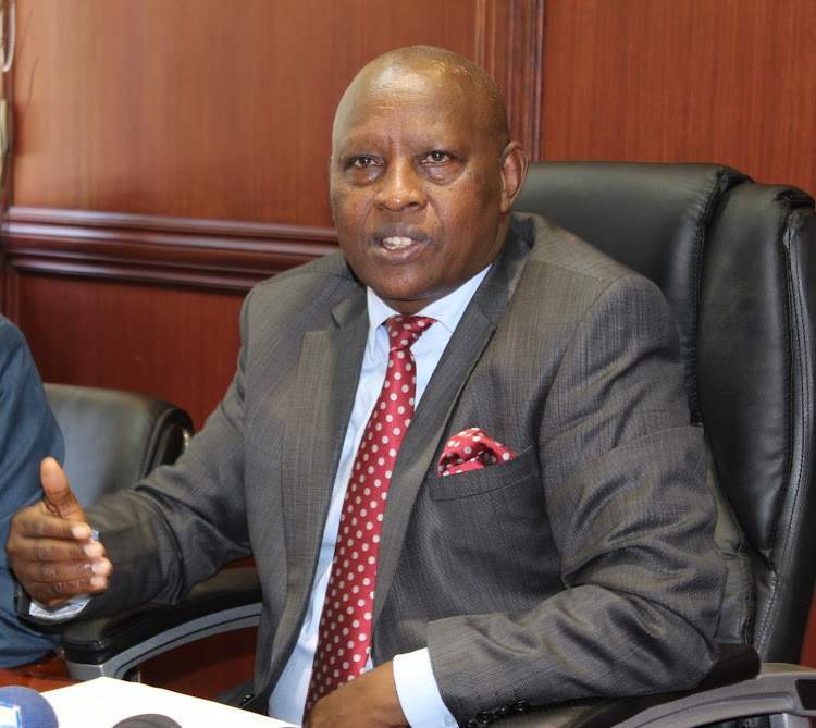 Nyeri Governor Mutahi Kahiga in his office