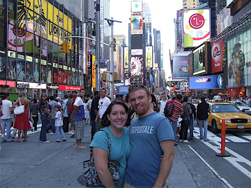 Steph and I in Times Square