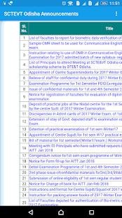 SCTEVT Odisha Announcements - náhled