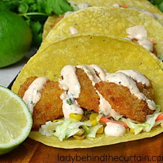 Semi Homemade Shrimp Tacos with Roasted Corn Slaw