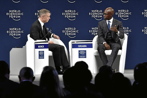 New spin: Minister of Finance Malusi Gigaba in a discussion at the World Economic Forum on Africa in Durban last week. A new study presented on the sidelines of the forum provides a counter to widespread notions that China's push into Africa amounts to colonialism Picture: GCIS